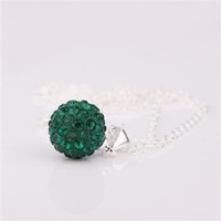 Fashion Jewelry Shamballa Necklace New Tresor Paris Allure CZ Disco Ball Bead SBP014 V F 347