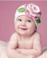 Wholesale - - Handmade Cotton Crochet Hat Cap Beanie Baby Mixed style hot Toddler Girl hats