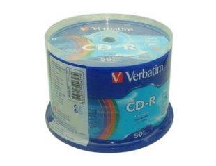 free shipping Verbatim  CD-R Blank CD-R Recordable Blank CD-R 52X ,50pcs a pack  record disk 700MB/80MIN