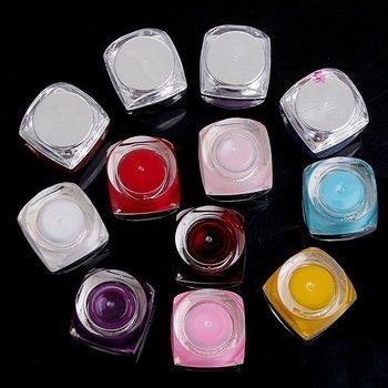 Free Shipping, Dropshipping 12pcs/lot, 12 Color Nail UV Gel + Nail Brush(Free Gift)