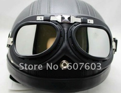 In stock 2013 new Motorcycle Scooter Steampunk Cruiser Helmet Goggle Eyewear Silver Lens T01H(China (Mainland))