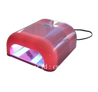 New 36W Nail Lamp UV Gel Light Dryer Time Set Curing 4 Bulbs Pink