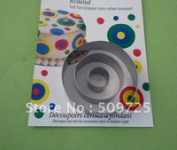 New 3PCS/SET Round Shape Cookie Cutter Biscuit Mold 1107#
