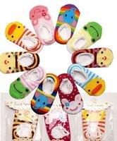 Baby Kids Boy Anti-Slip cartoon Socks Shoes baby clothing Cute Unisex Slipper cotton 6-24 Months free shipping