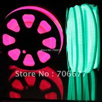 Pink light for decoration, neon flex 100leds per meter, per 20cm can cut, Milk jacket, 110VAC input 25M/1 reel -- free shipping