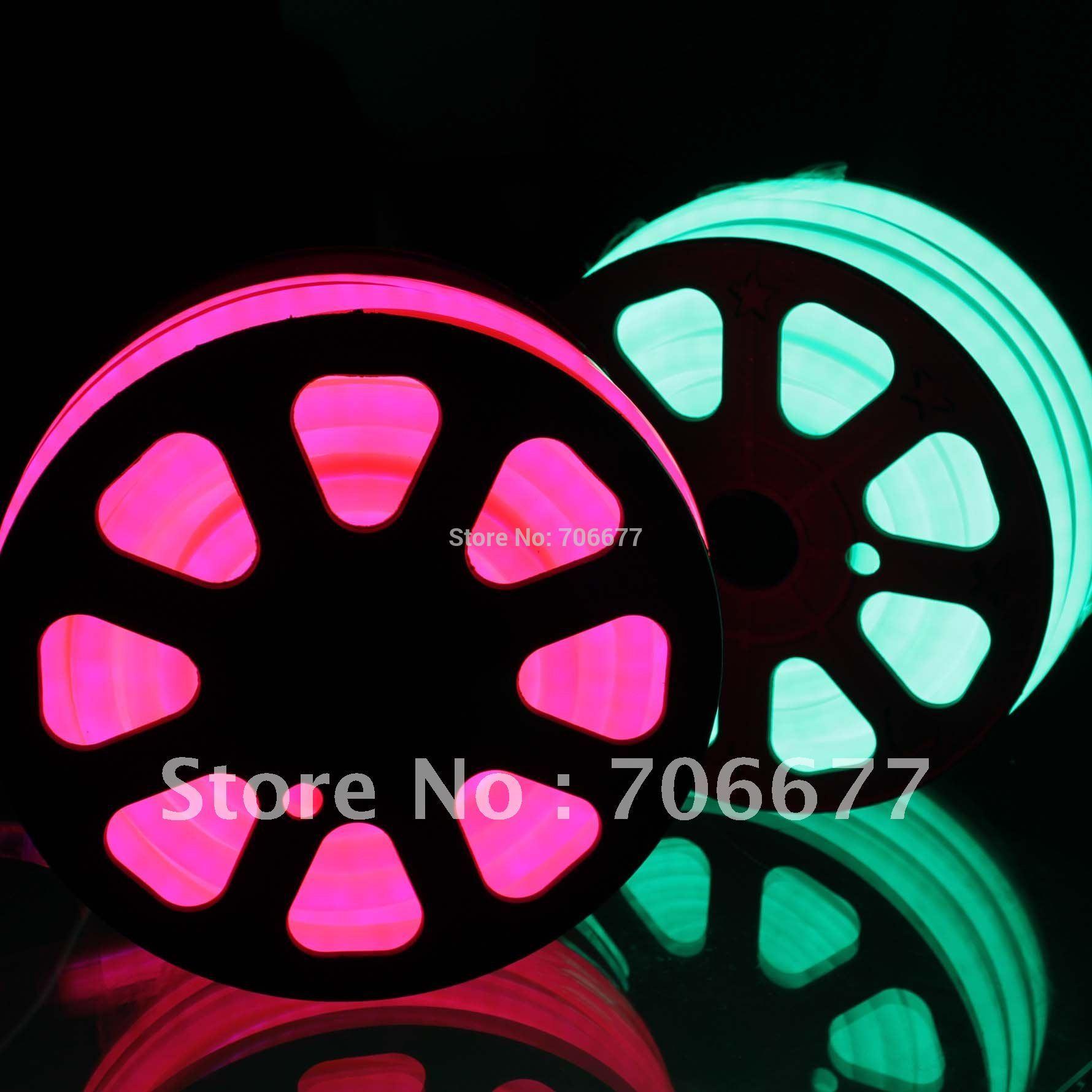 Round shape pink light neon flex, 24VDC input, 100leds/m, using for outdoor decoration, making LOGO sign, Free shipping(China (Mainland))