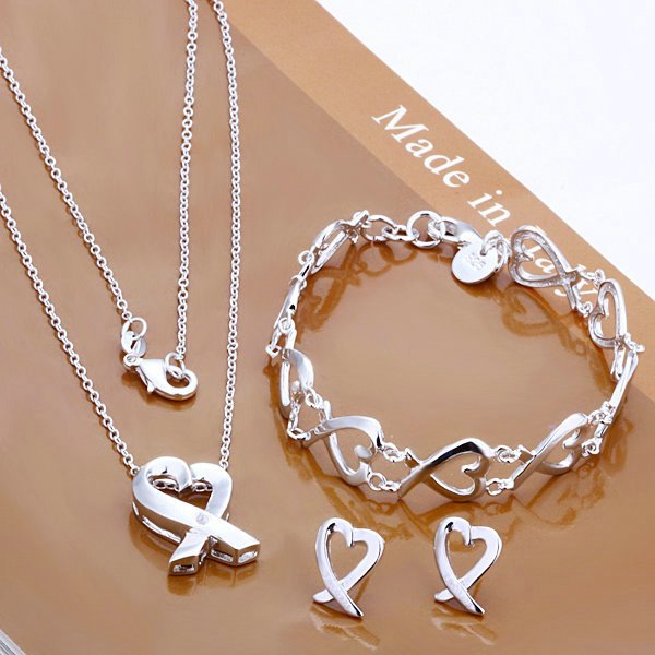 Free Shipping,wholesale silver jewelry set,high quality silver set,fashion jewelry set(China (Mainland))