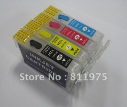 Free Shipping 135 T1351 +T1332 T1333 T1334 refillable ink cartridge for epson Stylus T25 TX123 TX125 TX133 TX135(China (Mainland))