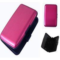 Color Business ID Credit Card Wallet Holder Aluminum Metal Case Waterproof Box  (AJ1309)
