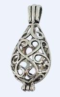 10Pcs Tibetan Silver Filigree Oval Locket Pendants A16559