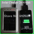 2600mah,Solar charger power bank USB Solar Battery Panel Charger for Phone  MP3  MP4 MP5  PSP PDA  Free shipping