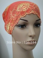 h12031724 %HOT% Best sale!!! Free shipping economic Lace muslim inner hats