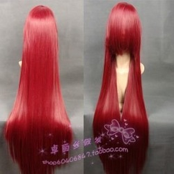 free shipping fashion high temperature fiber hair burgundy(China (Mainland))