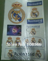 real madrid  fc waterproof car sticker /  fans glass sticker