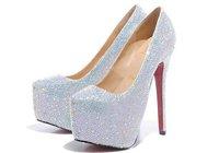 Freeshipping wedding shoes,crystal shoes for wedding ceremony women high heels 14cm heel rhinestone high heels women boot pumps