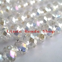 Free Shipping!! AAA Top Quality 10mm Crystal Clear AB Colour Crystal 5040 Rondelle Beads 360pcs/lot B100401AB