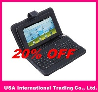 "20% OFF ,USB Keyboard Leather Cover Case Bag for 7"" Tablet PC MID PDA VIA 8650,Free Shipping + Drop Shipping"