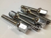 M12x1.5 CHROME BALL SEAT WHEEL LUG BOLTS 20PC TOTAL 90MM TALL 60MM SHANK LENGTH