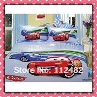 4pcs Bedding Set 100% Cars Cotton Printing Bedding Set Kid Children's Free Shipping