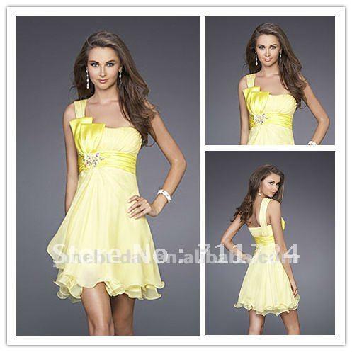 Pale yellow summer dress