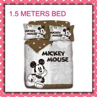 Cotton active children 4pcs Bedding Set Mickey Mouse Kid Bedding Free Shipping