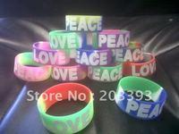 Hotsale glow silicone sport bracelets & wristbands