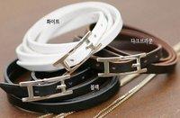 Free shipping~Wholesale leather belt type buckle bracelet/Skin buckle bracelet,women jewelry,fashion jewelry