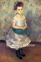 Oil Painting Reproduction,jeanne durand ruel By  Renoir oil painting on linen canvas,Free Fedex Shipping,handmade