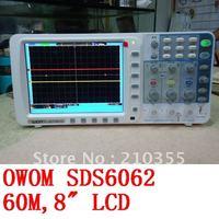 "DHL ,OWOM 60M 500MS/s SDS6062,8"" 800*600 LCD display, Deep memory 10M record length digital storage oscilloscope"