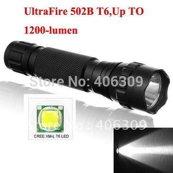 Hotest UltraFire WF-501B T6 Cree XM-L T6 1200 Lumens 5-mode LED Flashlight Torch+Free shipping via airmail post