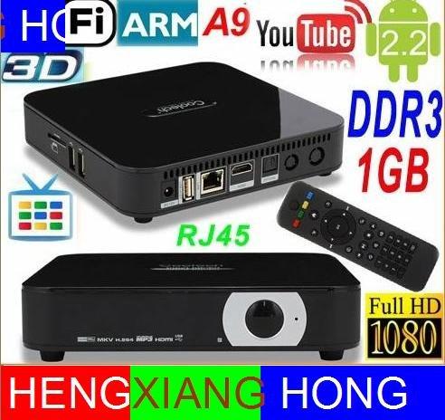 Google TV Box Android 4.0 ARM Cortex A9 WiFi HD 1080P HDMI Internet TV