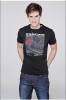 Free shipping--2012 fashion British printing cotton /Short Sleeve T-Shirt