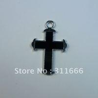 Free shipping 100 pcs/lot  Cross zinc alloy enamel charms pendants