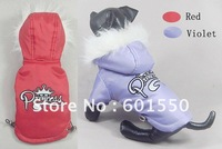 Factory price (MIX 2 Colors) New Dog Comfortable Winter Jacket Crown design,Winter Jackets For Pets Dog,10pcs/lot