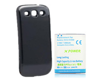 DHL shipping 100pcs/lot New 4800mAh Extended Battery + Back Cover Door For Samsung Galaxy S 3 III I9300