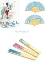 Free shipping wholesale 50pcs elegant Japanese hand fan silk folding fan