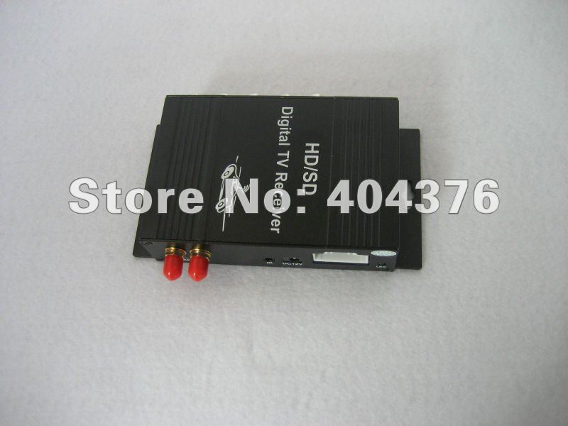 With two antennas Car DVBT (MPEG-4) HD Digital TV Tuner Receiver Box System receiver-2012(China (Mainland))