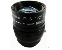 F02211 CS Mount 50mm F1.6 Varifocal Manual Zoom Focal Ir Iris Aperture Lens For CCTV Security IP Camera + Free shipping