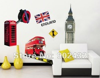 Removable vinyl Wall Stickers Olympic Games in London Home Decoration 50*70cm Wall Decals JM8223