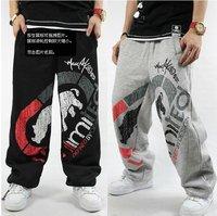 Free shipping !!! 2014 hot sale Men Eminem HIPHOP hip-hop B-BOY street pants, thickening catch flocking cotton pants