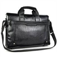 free shipping Men's [black&brown] 100% Guarantee genuine Leather business Briefcase Laptop Handbag Messenger Bag 37CM*29CM*9CM