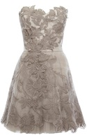 Hot!!Romantic Embroidery Dress Women Strapless Tutu Dress Lace Bridesmaid Evening Cocktail Dresses DN163