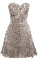 Hot!!Romantic Embroidery Dress Women Strapless Tutu Dress Lace Bridesmaid Evening Cocktail Dresses DN163