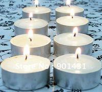 Free Shipping 50PCS / Lot White tea candle wax candle smoke-free tea warm romantic birthday candles