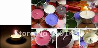 Free Shipping 50PCS / Lot Colorful tea candle wax candle smoke-free tea warm romantic birthday candles