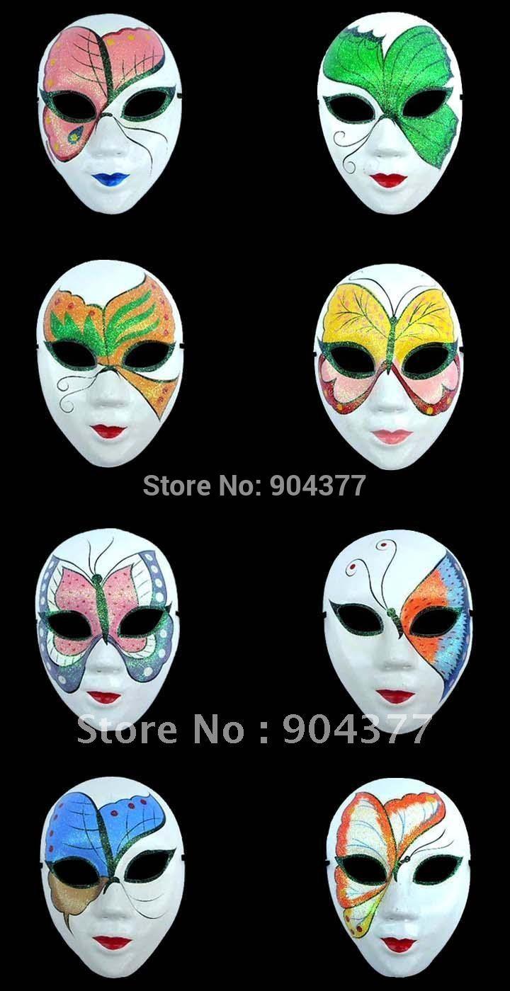 White Masquerade Masks For Halloween Women Paper Mache