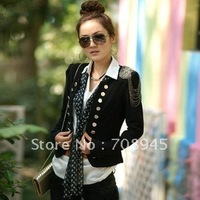 1 Piece Best Selling!! women Epaulette shrug small suit  jacket +Free shipping