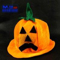 FREE SHIPPING!!! Halloween props, dance party supplies, high-grade game show pumpkin hat (round)
