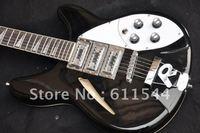 Custom Shop Black 12 Strings 3 Pickups Custom Semi-hollow Rick  jazz guitar in stock free shipping