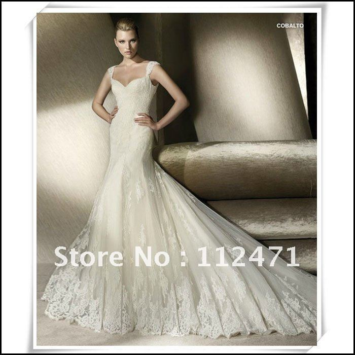 V-neck hot sale wedding dress 2013 Off- the-Shoulder applique ladies bridal gown ladylike empire waist bride wedding dress hs25(China (Mainland))